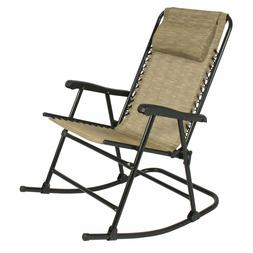 Folding Rocking Chair Foldable Rocker Outdoor Patio Furnitur