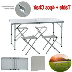 Folding Table Portable Plastic Indoor Outdoor Picnic Party C