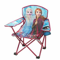Frozen 2 Kids Camping Chair with Cup Holder Folding Outdoor