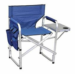Stylish Camping Full Back Folding Director's Chair Blue