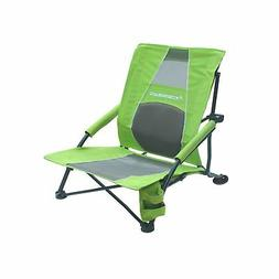 STRONGBACK Low Gravity Beach Chair With Built-In Lumbar Supp