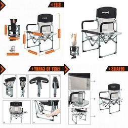 Heavy Duty Camping Folding Director Chair Oversize Padded Se