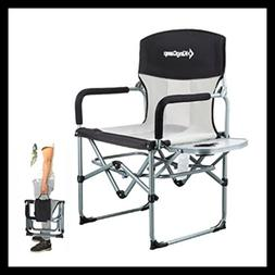 Kingcamp Heavy Duty Compact Camping Folding Mesh Chair W Sid