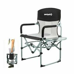 Heavy Duty Compact Camping Folding Mesh Chair With Side Tabl