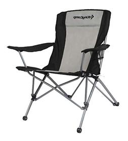 KingCamp Heavy Duty Folding Arm Chair with Comfotable Tilted