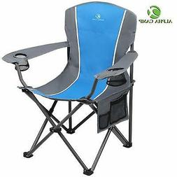 ALPHA CAMP Folding Camping Chair Heavy Duty Support 350 LBS