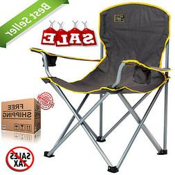 Heavy Duty Folding Camp Chair Outdoor Portable Seat 500LBS O