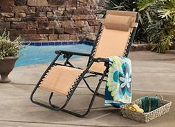 Heavy Duty Folding Zero Gravity Chair Camping Recliner Outdo