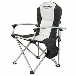 Outdoor Camping Director's Folding Steel Chair with Carry Ba