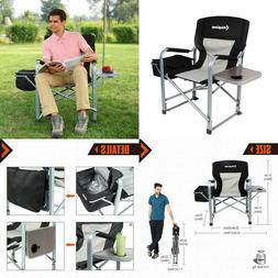 Kingcamp Heavy Duty Steel Camping Folding Director Chair Wit