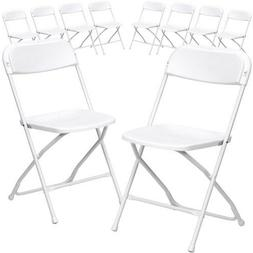 Flash Furniture HERCULES Series White Plastic Folding Chair