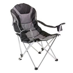 Reclining Camp Chair - Sage Green and Dark Gray