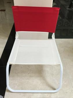 hollywood folding beach chair red low to
