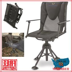 Hunting Blind Chair With Armrests Swivel Portable Deer Hunti