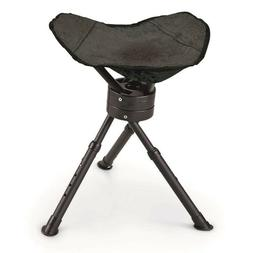 Hunting Chair Swivel Folding Stool Seat Tripod Fishing Light