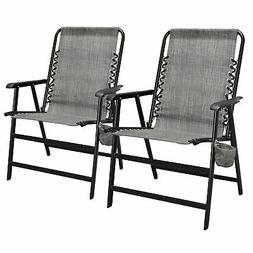 Caravan Canopy Infinity Suspension Folding Chair with Cuphol
