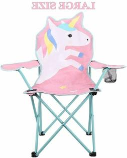 KABOER Kids Camping Chair Outdoor Folding Portable Unicorn w