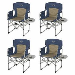 Kamp-Rite Compact Folding Outdoor Camping Chair with Side Ta