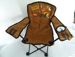 Kids Camp Chair Rocking Moose Campfire Cup Holder Folding Ca