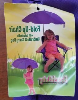 kids camp chair with detachable umbrella