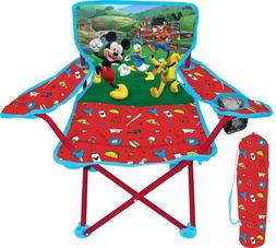 Kids Camping Chair Folding Portable Boys Mickey Mouse Club H