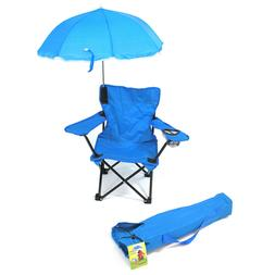 Kids Folding Chair w Umbrella Camping Travel Lake River Chil