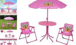 Kids Folding Picnic Table and Chairs Set with Removable Beac