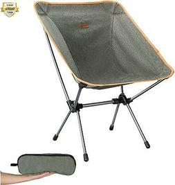 KingCamp Moon Saucer Camping Folding Round Chair Padded Seat