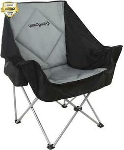 KingCamp Oversize Camping Folding Sofa Chair Padded Seat wit