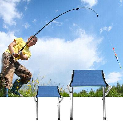 Groovy 2 Pcs Portable Folding Stool Camping Chair Outdoor Caraccident5 Cool Chair Designs And Ideas Caraccident5Info