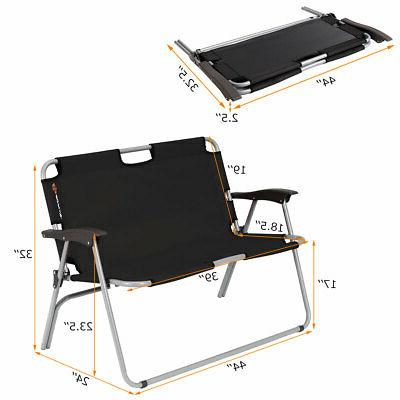 2 Person Bench Portable Loveseat Chair Outdoor
