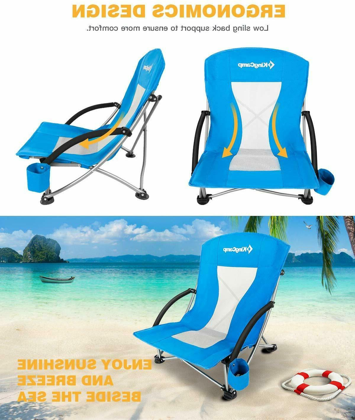 2 Camping Concert Chair, Low, Mesh