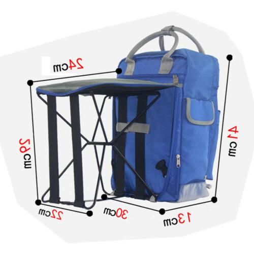 2in1 Portable Backpack Camping Stool Seat