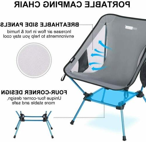 VIVOHOME 300D Folding Camping Chair w/ 350 lbs
