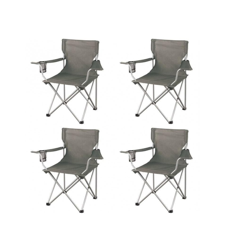 4 Camp Chair Outdoor Seat 225LBS