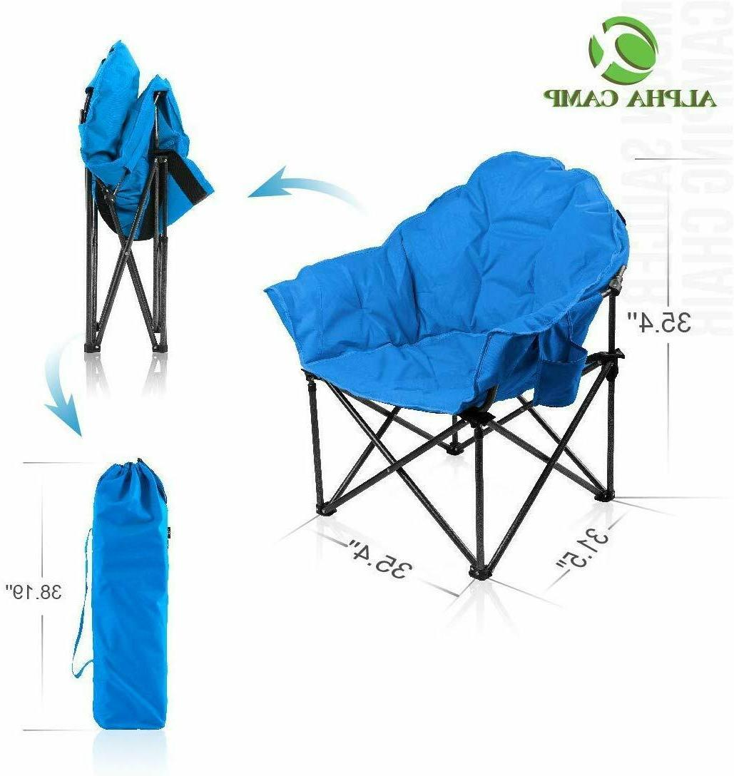 Alpha Camp Oversized Moon Saucer Chair With Folding