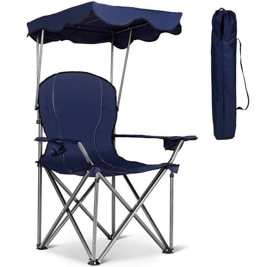 Beach Chair Portable Folding Camping Seat With Cup Holder An
