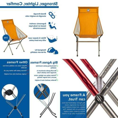 Big Six Camp Chair High & Wide Camping Chair Aircraft Alumin