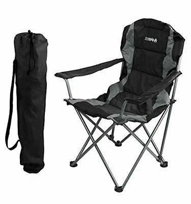 black folding camping chair ultra lightweight collapsible
