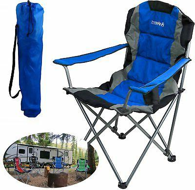 blue folding camping chair ultra