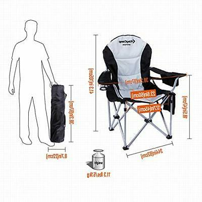 Camping Arm Chair Duty Back 350