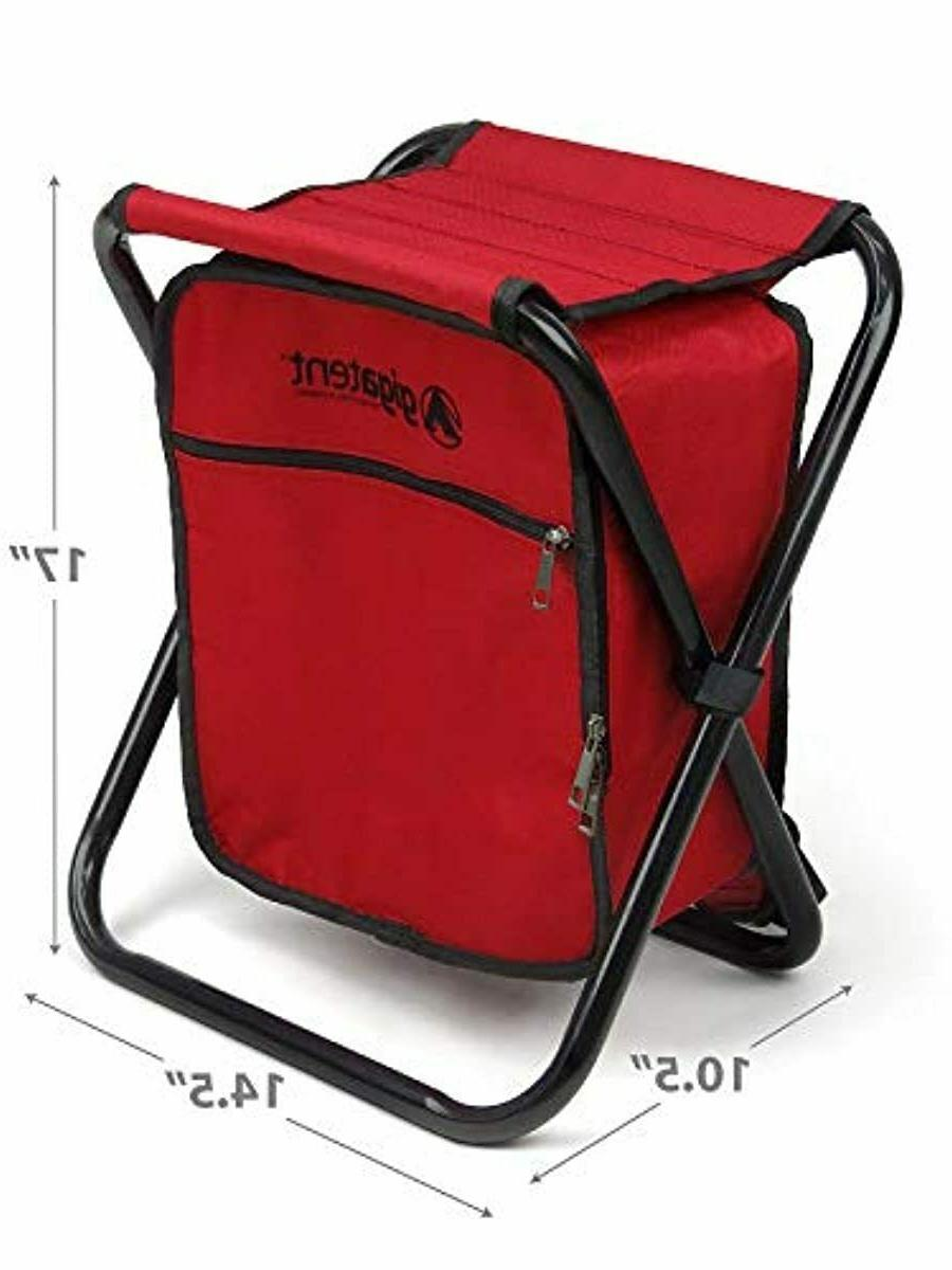Camping Chair 1 Folding Collapsible Stool Insulated Strap Ice Bag