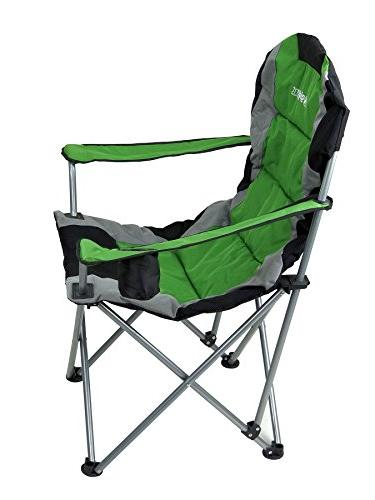 GigaTent Folding Chair Ultra Collapsible Seat Arm and Strap Bag Steel