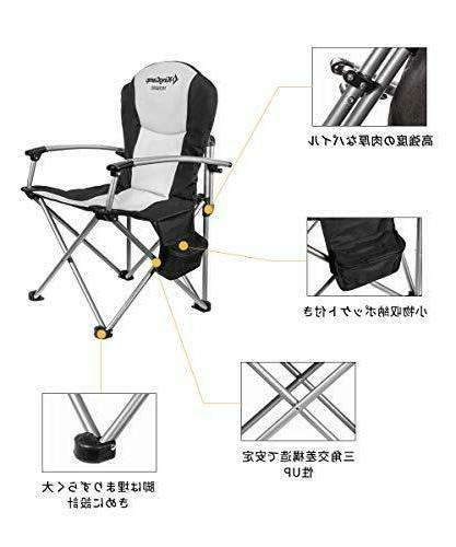 KingCamp Camping Chair Heavy Duty Folding Oversize Padded Director's