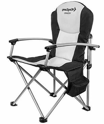 camping chair heavy duty folding oversize padded