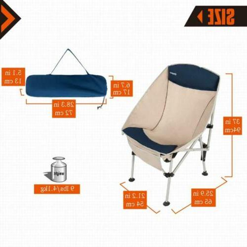 KingCamp Camping Chair, Heavy Duty Chair with