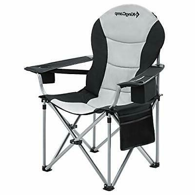 camping chair with lumbar back support padded