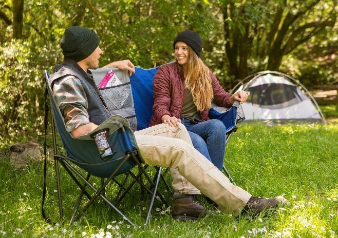Camping Dual Chair Camping Lounge Outdoor Bench