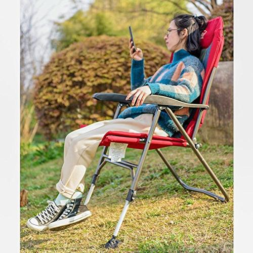 Timber Ridge Camping Folding Heavy Adjustable and Armrest, Outdoor, Garden