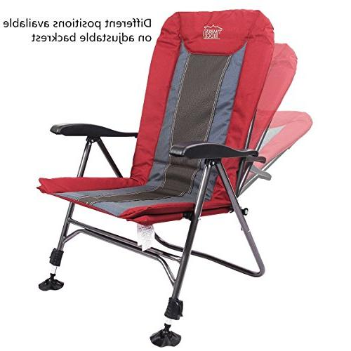 Timber Ridge Camping Folding Duty with Adjustable Back and Legs